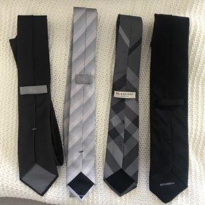Set of 5 ties (Burberry, Dior, Dolce&Gabbana)